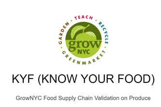 KYF: Know Your Food