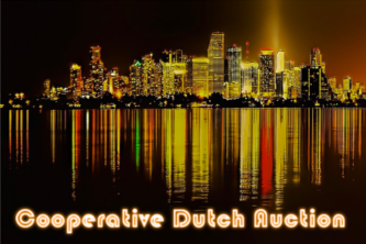 Cooperative Dutch auction for live event ticketing