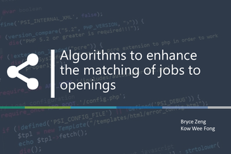 Algorithms to enhance the matching of jobs to openings