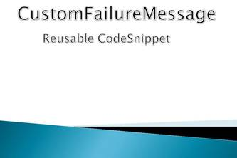 GetCustomFailureMessage