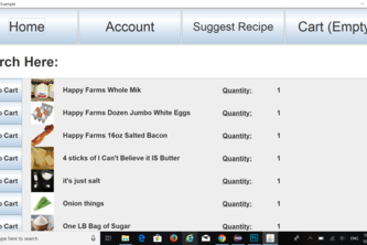 Grocery Order Suggestions by Recipe (G.O.S.R.) HackNC