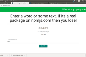 wheres my npm package?