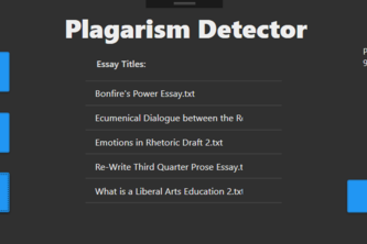 Check It: A Plagiarism Detector