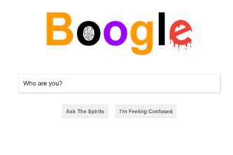 Boogle - A spooky remake of Google.