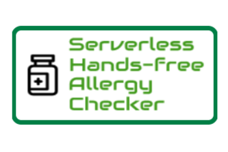 Serverless Hands-free Allergy Checker