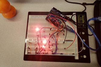 Arduino UNO Binary Clock