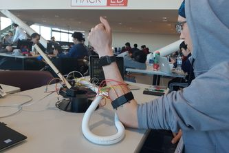 Gesture Controlled Desktop Robotic Arm