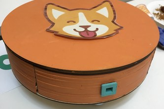 Tally the Corgi (Automatic Pet entertainer/feeder)