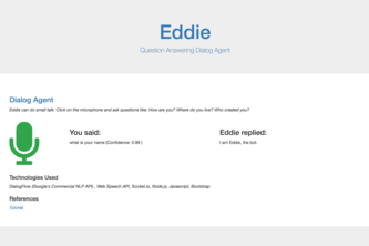 Eddie - Question Answering Dialog Agent