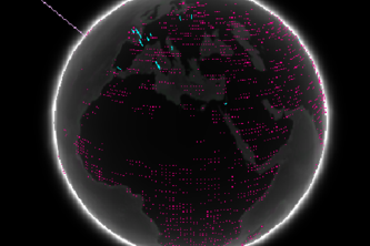 Data Visualization on 3-Dimensional Globe