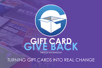 The Gift Card Give Back Twitch Extension