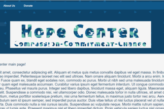 Hope Center Website