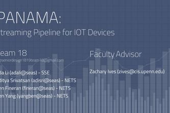 PANAMA Streaming Pipeline for IoT Devices