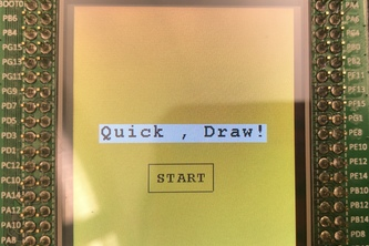 Quick, Draw! HandHeld Game Console
