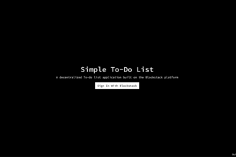 Simple To-Do List