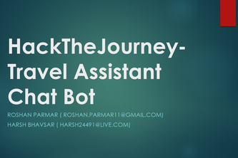 HackTheJourney-Travel Assistant Chat Bot