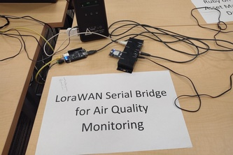 LoraWAN Serial Store/Forward Bridge for Air Monitoring