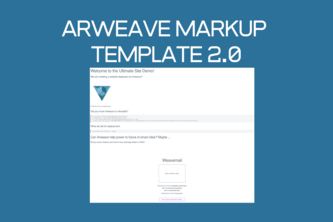 Arweave HTML Markup Template 2.0