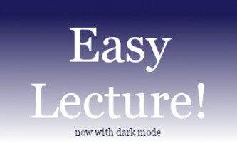 Easy Lectures