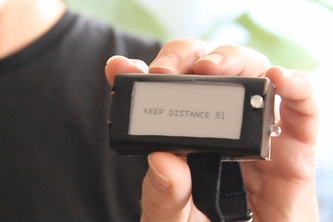 Wearable solution to keep security distance for individuals