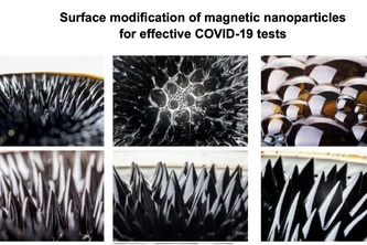 Surface modification of magnetic particles for COVID19 tests