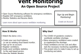Monitoring and Alerts System for Emergency Ventilators