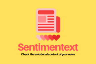 Sentimentext - check the emotional content of your news