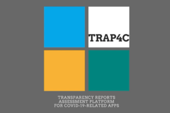 TRAP4C:Transparency Reports Assessment Platform 4 COVID apps