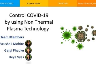 Control COVID-19 by using Non thermal Plasma Technology