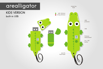 Arealligator - distance measurement & education-toy for kids