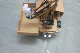 Garbage collector robot.