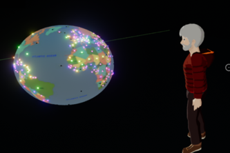 Virtual World Interactive Visualization of Covid-19 Pandemic