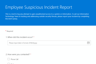 User Incident Report Solution