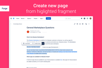 Create Page from Content for Confluence