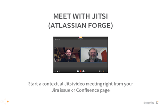 Meet with Jitsi (Atlassian Forge)