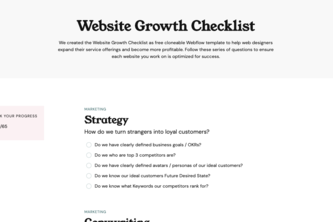Website Growth Checklist