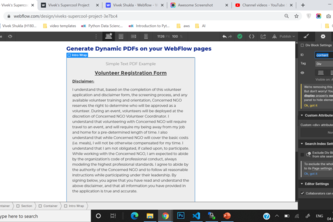 In Browser PDF Generation Add on | Webflow