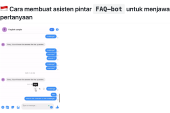 Tutorial membuat asisten pintar FAQ-bot