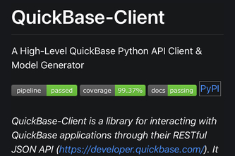 High Level Python and QuickBase Interfacing