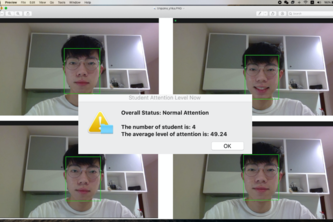 Real-Time Attention Score of Students in Online Class
