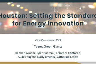 Houston: Setting the Standard  for Energy Innovation