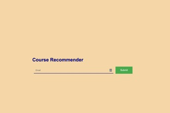 Course Recommender