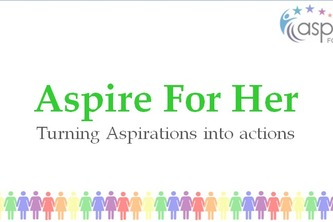 Pitch for Aspire for her organisation.