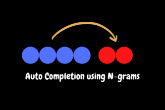 Auto Completion using N Gram Models
