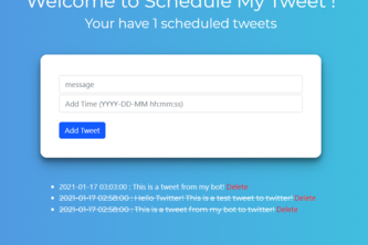 Twitter scheduler using Twitter and Google sheets API