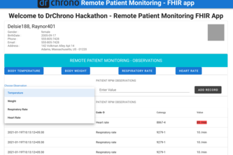 DrChrono Remote Patient Monitoring for COVID Pandemic - FHIR