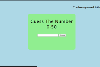 Number Guessing Game Easy