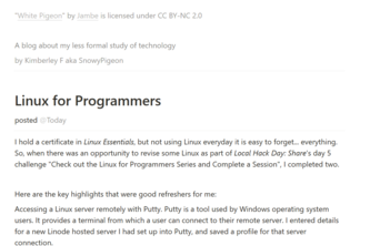 Linux For Programmers