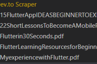 Dev.to scrapper