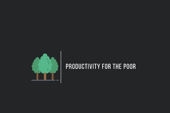 Productivity for the poor